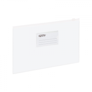 Koperta foliowa A4 na suwak EC009B biała 120-1055 GRAND