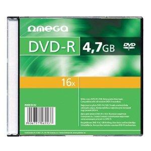Płyta DVD+R 4,7GB 16X SLIM CASE*10 OMEGA OMD16S+