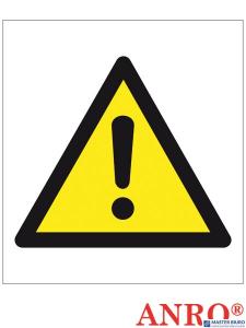 Naklejka/znak OGÓLNY ZNAK OSTRZEGAWCZY ZZ-156CH 200x200 Oznakowanie substancji chemicznych Ogólny znak ostrzeżenia przed niebezpieczeństwami. znak dostępny w formatach: C - 200x200 ANPRO