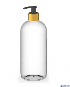 Butelka z dozownikiem do płynu/żelu/mydła z pompką czarno-złotą 750ml