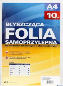 Folia samoprzylepna A4 do dr.laser.(10szt) 434010  50mic