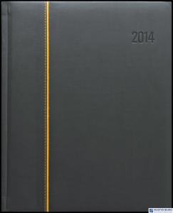 Kalendarz A5 PLUS książkowy (U3)13 grafit/teksas wstawka TELEGRAPH