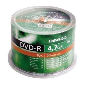 Płyta DVD-R 4,7GB 16X CAKE*50 OMEGA OMD1650-