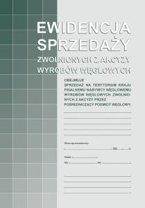 305-1 Ewidencja sprz.zwol.z akcyz.wyr.węgla MICHALCZYK i PROKOP