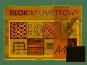 Blok milimetrowy A4 20k KRESKA
