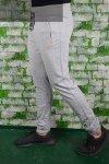 Spodnie męskie dresowe szare ze ściągaczem