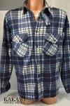 Koszula z polaru granatowa w kratkę