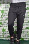 Spodnie męskie dresowe czarne ze ściągaczem
