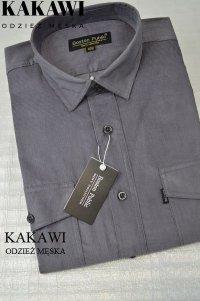 Koszula sztruksowa szara męska.
