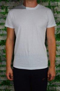 T-shirt biały gładki.