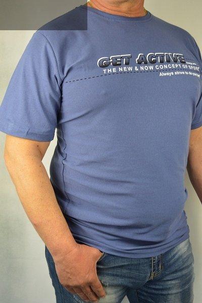 T-shirt granatowy nadwymiar.