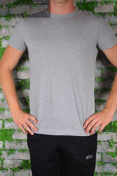 T-shirt szary gładki.
