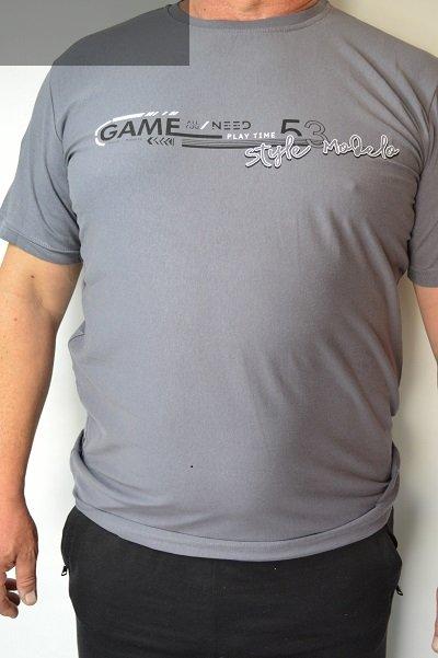 T-shirt stalowy nadwymiar.
