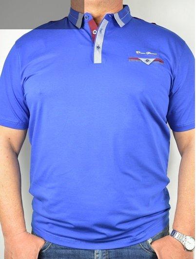 Koszulka typu polo nadwymiar kobaltowa