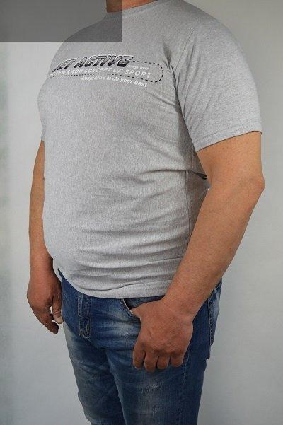 T-shirt jasno-szary nadwymiar.
