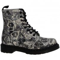 Buty Dr Martens PASCAL Black White Party People Softy