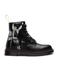 Buty Dr. Martens 1460 SXP Black Sex Pistols Backhand Straw Grain 24789001