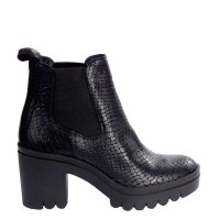 Botki Fly London TOPE 520 Black Croco P144520006