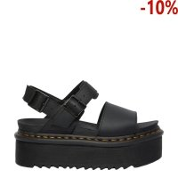 Sandały Dr. Martens VOSS QUAD STRAP SANDALS Black Hydro Leather 26725001