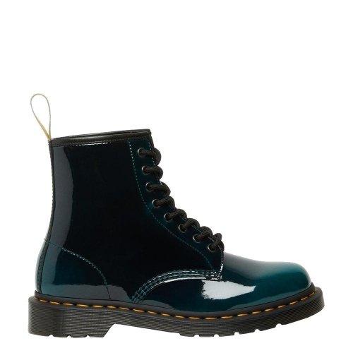 Buty Dr. Martens 1460 VEGAN Black Green Gloss Pull Up 26887431
