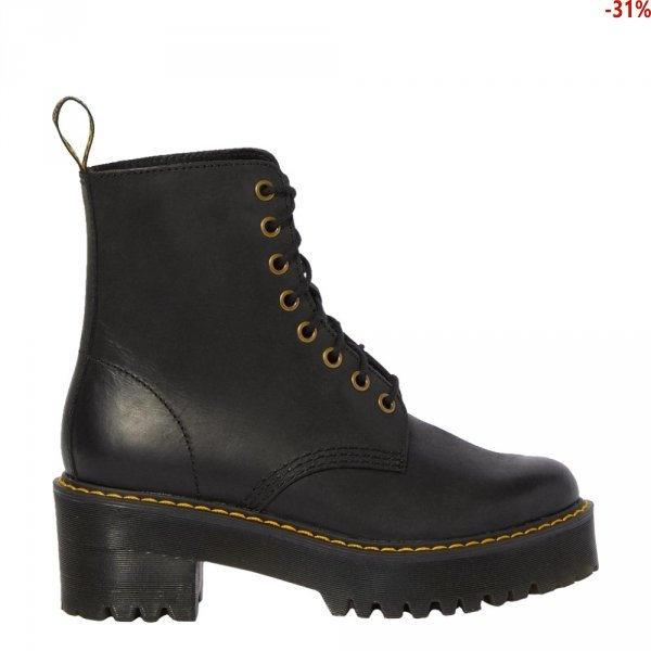 Botki Dr. Martens SHIVER HI Black Burnished Wyoming 23921001