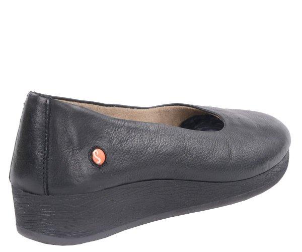 Balerinki Softinos ASA 414 Black Smooth Lea
