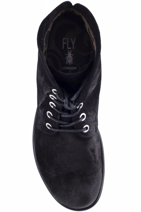 Sztyblety Fly London MESU 780 Black Oil Suede