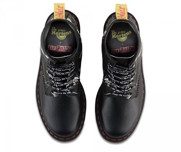 Buty Dr. Martens 1460 SXP Black Sex Pistols Backhand Straw Grain 24789001