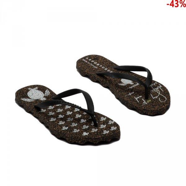 Klapki Asportuguesas TURTLE Black Black P018057001