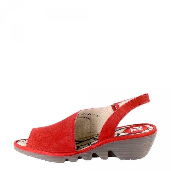 Sandały Fly London PALP 814 Lipstick Red Cupido P500814012