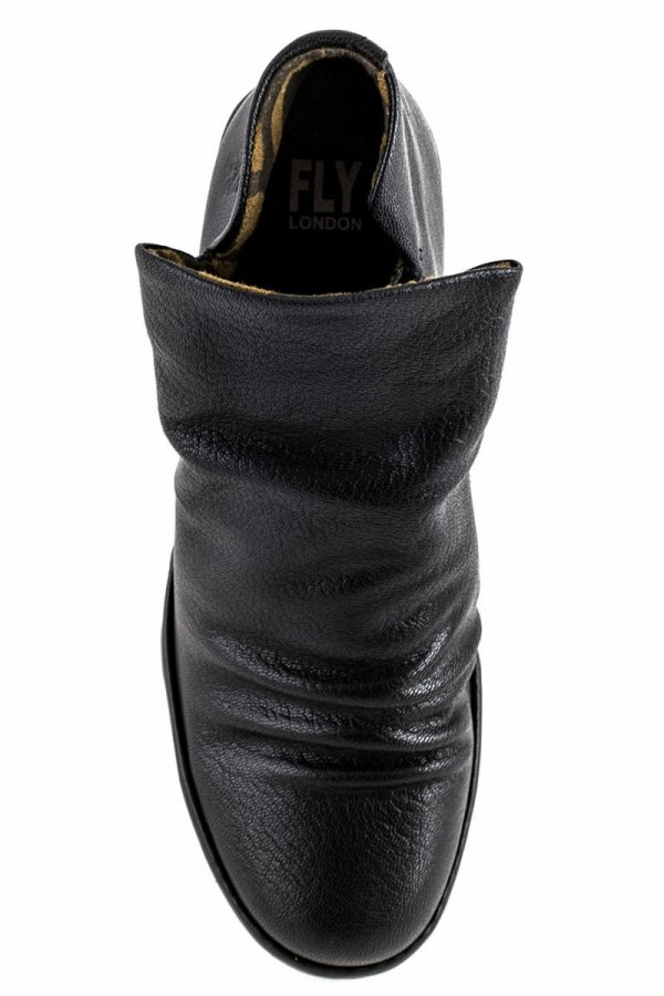 Botki Fly London YIP BLACK MOUSSE