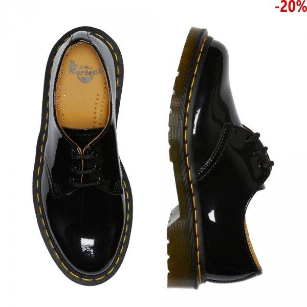 Półbuty Dr. Martens 1461 Black Patent Lamper 10084001