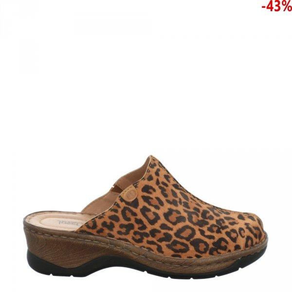 Sandały Josef Seibel CATALONIA 51 Camel Leopard Kombi 56551917240