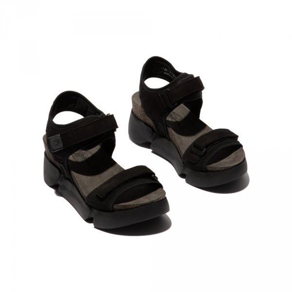 Sandały Fly London SIGO727 Black Strech Cupido P144727000
