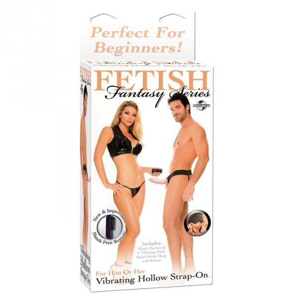 Proteza-FF VIBRATING HOLLOW STRAP ON - FLESH