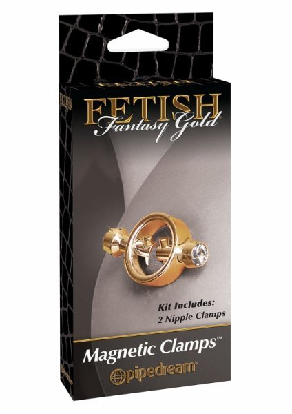 Stymulator-FF GOLD MAGNETIC NIPPLE CLAMPS