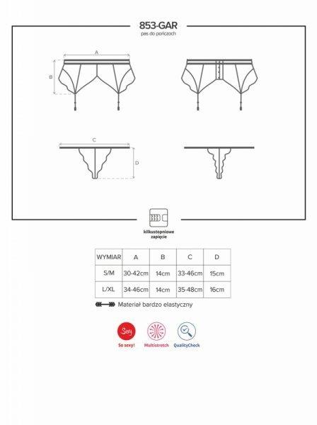 Bielizna-853-GAR-1 pas do pończoch i stringi L/XL