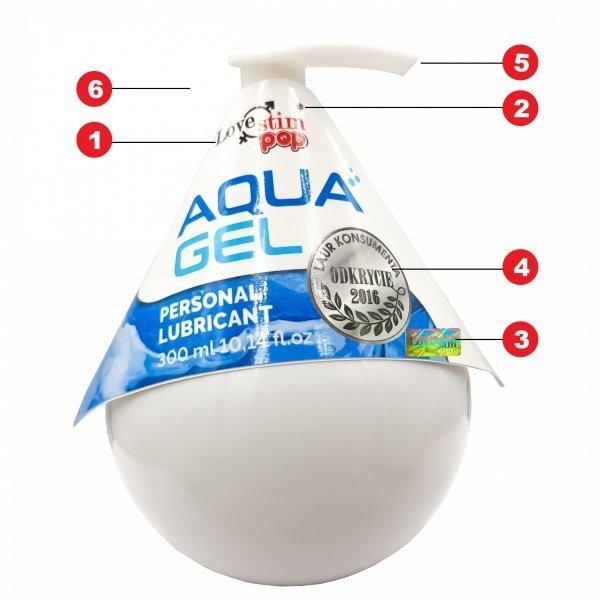 Lubrykant na bazie wody AQUA GEL 300ml