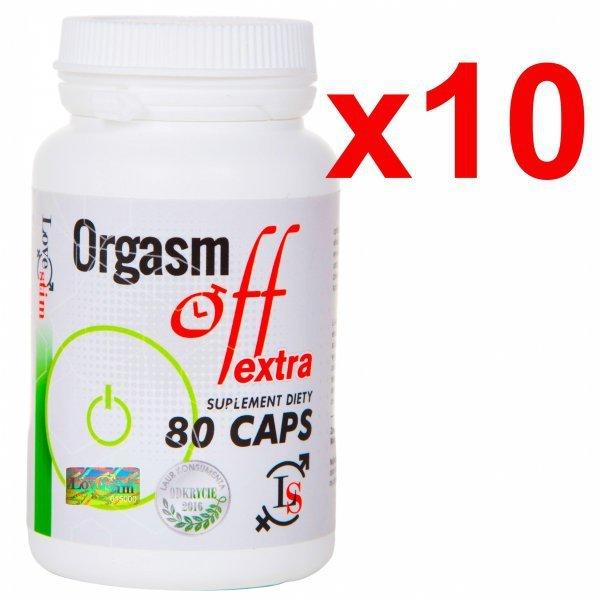 10x Orgasm Off 80cps. najmocniejszy suplement opóźnia wytrysk