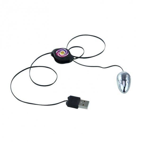 DYSKRETNY NA USB MASAŻER ŁECHTACZKI I WIBRUJĄCE JAJKO W JEDNYM