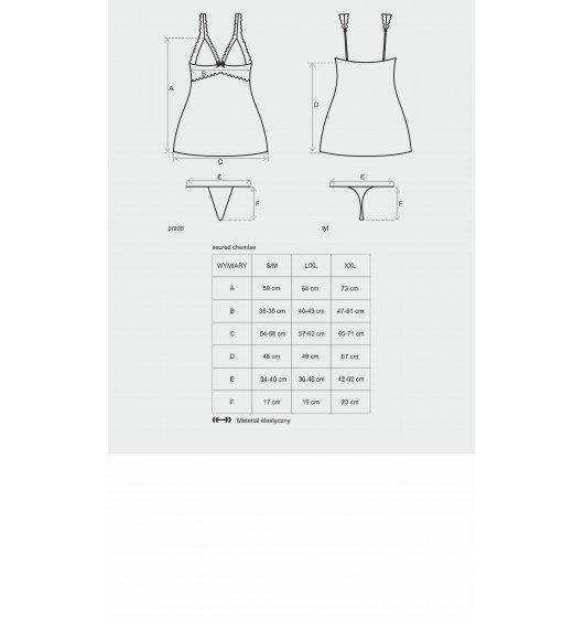 Secred koszulka i stringi L/XL