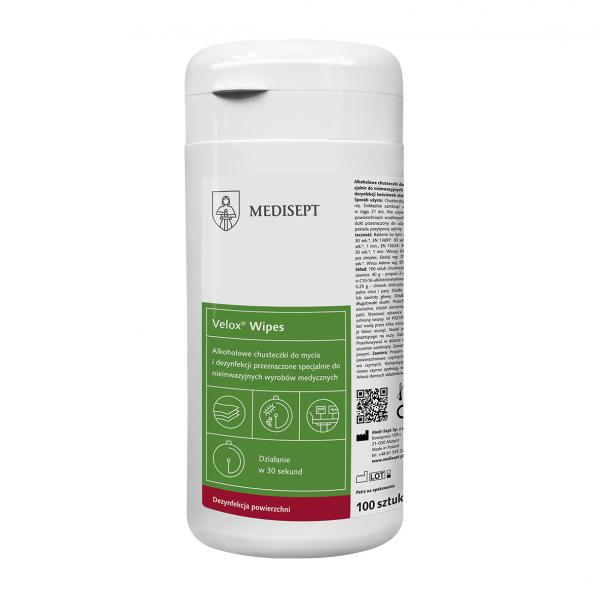 MEDISEPT Duo Wipes - Desinfektionstücher in PE-Spenderdose 100 Stück