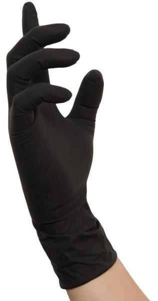 Nitryl-Handschuhe SCHWARZ Gr. S