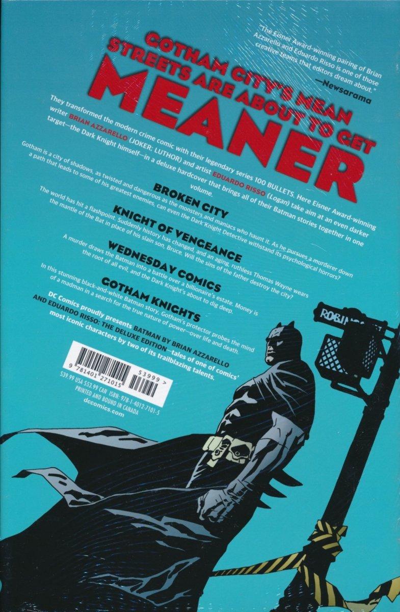 BATMAN BY BRIAN AZZARELLO AND EDUARDO RISSO HC (Oferta ekspozycyjna)
