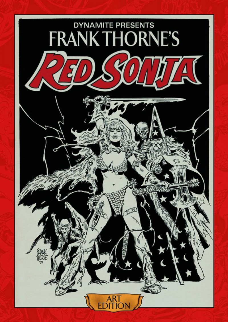 FRANK THORNE RED SONJA ART ED HC SGN VOL 01