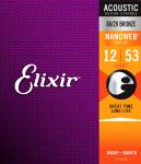 Struny ELIXIR NanoWeb 80/20 Bronze (12-53)