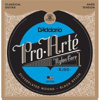 D'ADDARIO Pro-Arté Black Nylon EJ50 Hard