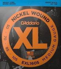Struny D'ADDARIO Nickel EXL160S (50-105)