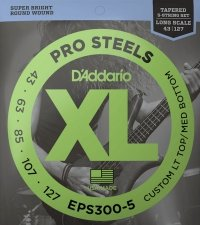 Struny D'ADDARIO ProSteels EPS300-5 (43-127) 5str.