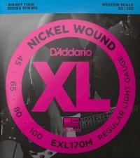 Struny D'ADDARIO XL Nickel Wound EXL170M (45-100)